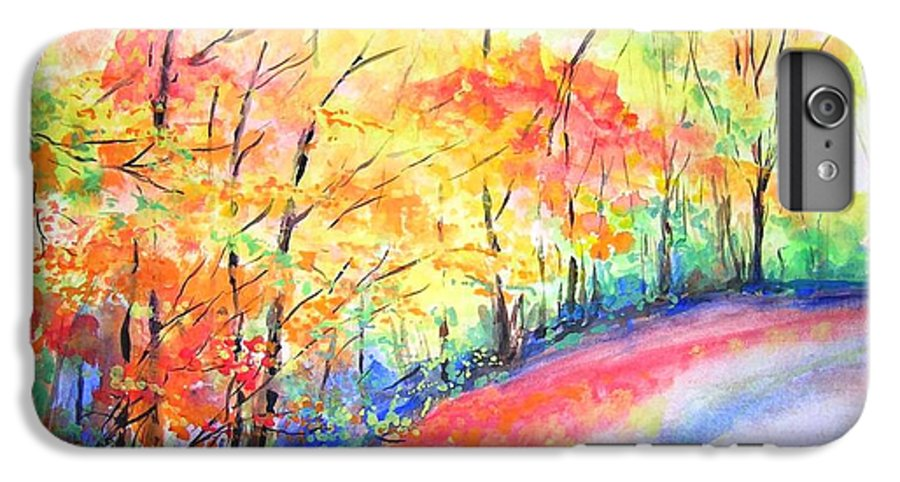 Autumn IPhone 6 Plus Case featuring the painting Autumn Lane Iv by Lizzy Forrester