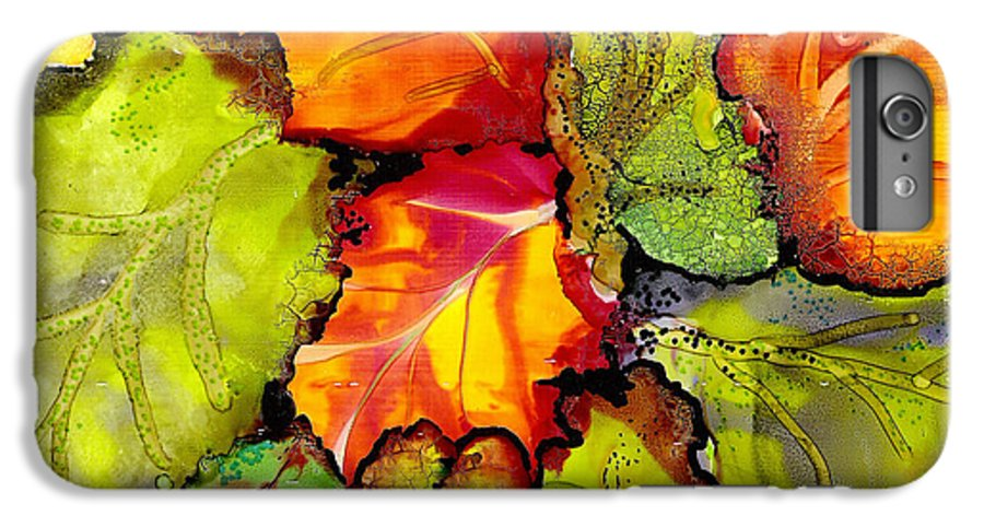 Leaves IPhone 6 Plus Case featuring the painting Autumn Leaves by Susan Kubes