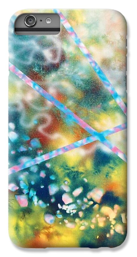 Abstract IPhone 6 Plus Case featuring the painting Autumn by Micah Guenther