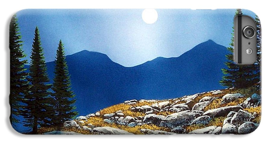 Landscape IPhone 6 Plus Case featuring the painting Autumn Moon by Frank Wilson