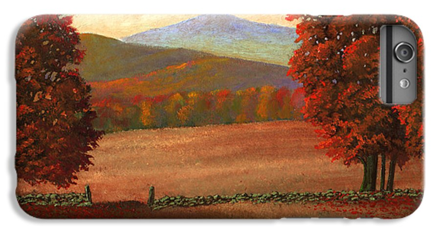 Autumn IPhone 6 Plus Case featuring the painting Autumn Pastures by Frank Wilson