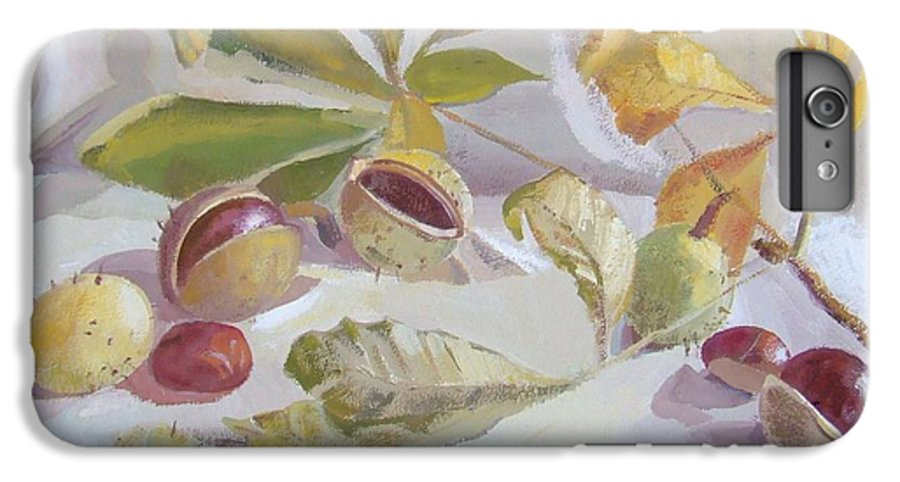 Still Life IPhone 6 Plus Case featuring the painting Autumn Still Life by Elena Oleniuc
