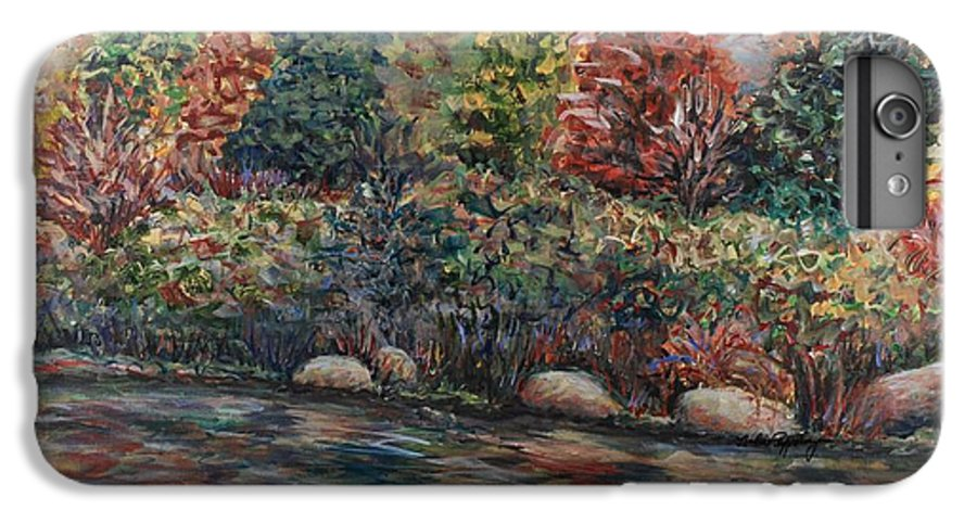 Autumn IPhone 6 Plus Case featuring the painting Autumn Stream by Nadine Rippelmeyer