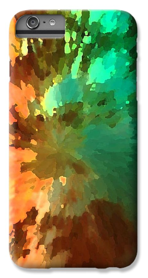 Abstract IPhone 6 Plus Case featuring the painting Autumn Surprise by Florene Welebny