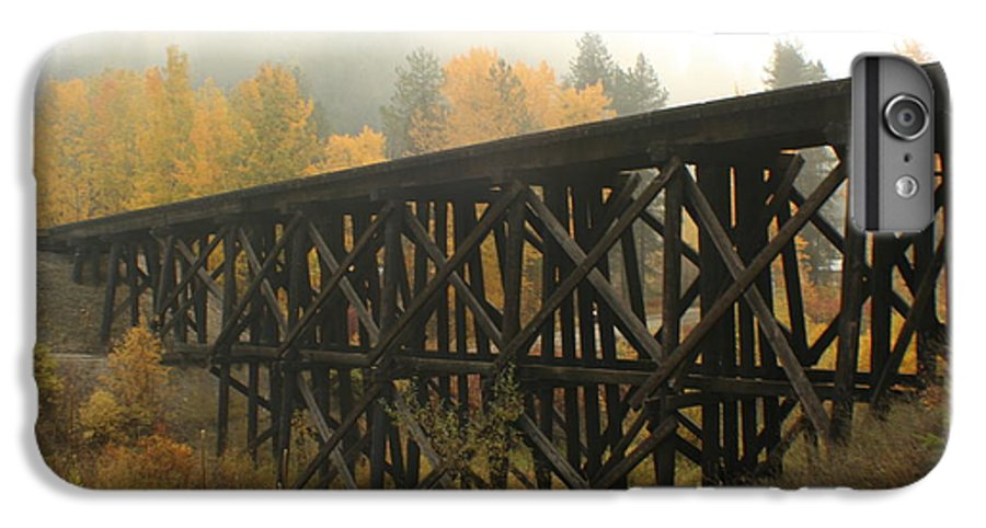 Trestle IPhone 6 Plus Case featuring the photograph Autumn Trestle by Idaho Scenic Images Linda Lantzy