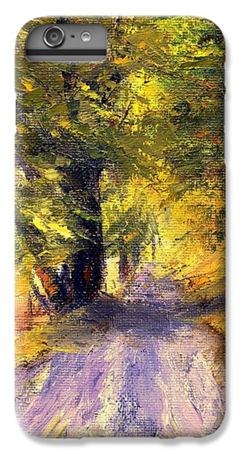 Autumn IPhone 6 Plus Case featuring the painting Autumn Walk by Gail Kirtz