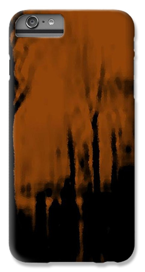 Trees.street.rain.clouds.wet People.the Naked Branches Of The Trees.the Gloomy Light. IPhone 6 Plus Case featuring the digital art Autumn Wet Day by Dr Loifer Vladimir
