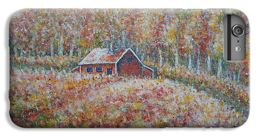 Landscape IPhone 6 Plus Case featuring the painting Autumn Whisper. by Natalie Holland