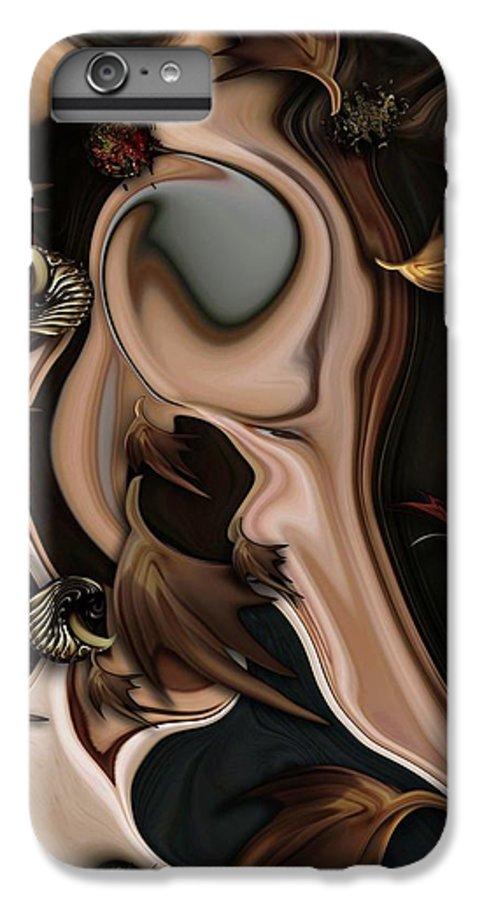 Autumnal IPhone 6 Plus Case featuring the digital art Autumnal Material by Carmen Fine Art