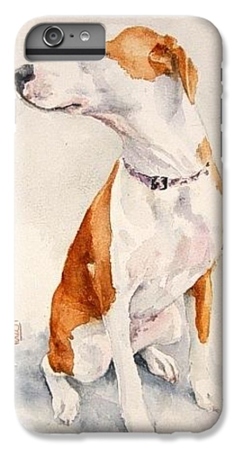 Dog IPhone 6 Plus Case featuring the painting Aviator by Debra Jones