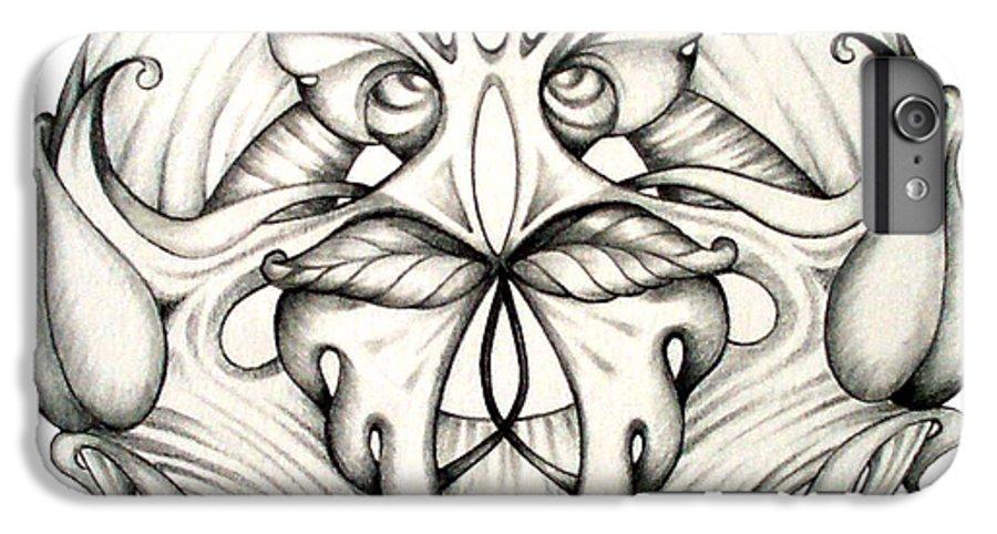 Mandala IPhone 6 Plus Case featuring the drawing Awakening by Shadia Derbyshire
