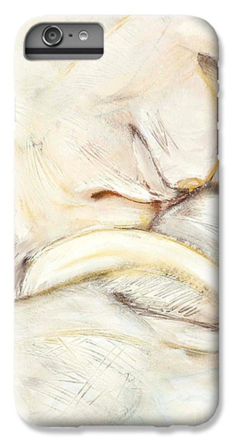Female IPhone 6 Plus Case featuring the drawing Award Winning Abstract Nude by Kerryn Madsen-Pietsch
