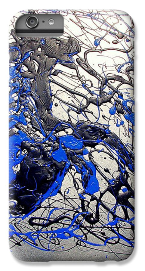 Stallion Horse IPhone 6 Plus Case featuring the painting Azul Diablo by J R Seymour