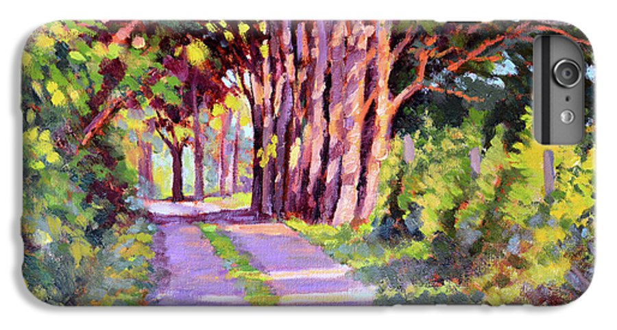 Road IPhone 6 Plus Case featuring the painting Backroad Canopy by Keith Burgess