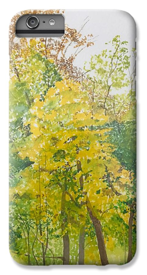 Autumn IPhone 6 Plus Case featuring the painting Backyard by Leah Tomaino