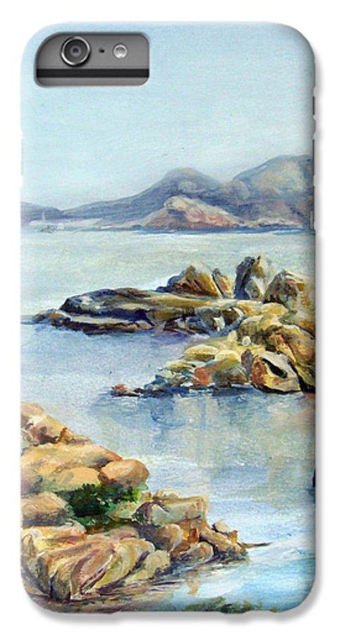 Landscape IPhone 6 Plus Case featuring the painting Baie by Muriel Dolemieux