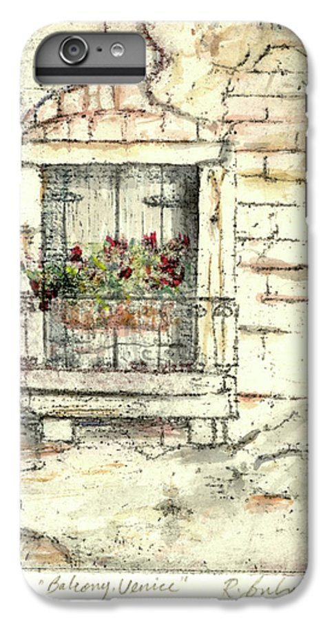 Venice IPhone 6 Plus Case featuring the painting Balcony Venice by Richard Bulman