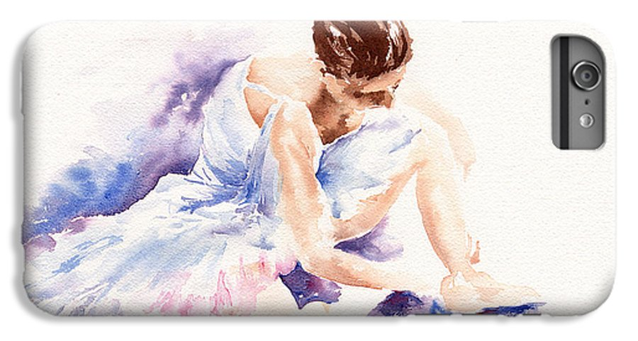 Ballerina IPhone 6 Plus Case featuring the painting Ballerina by Stephie Butler
