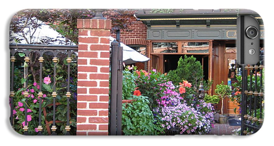 Courtyard IPhone 6 Plus Case featuring the photograph Baltimore Cafe     By Jean Carton by Jerrold Carton