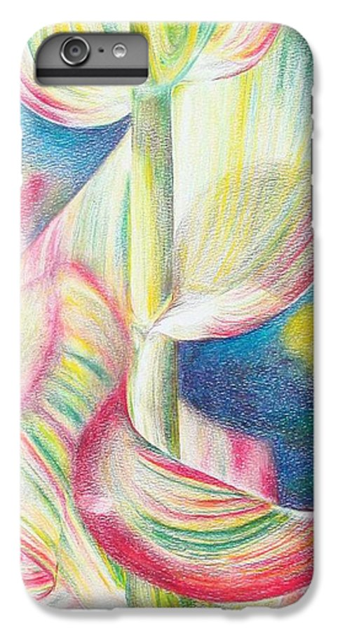 Flower IPhone 6 Plus Case featuring the painting Bambou by Muriel Dolemieux