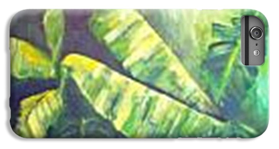 Banana Leaf IPhone 6 Plus Case featuring the painting Banan Leaf by Carol P Kingsley