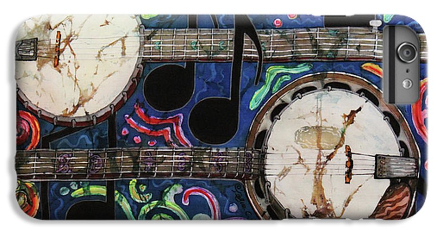 Banjos IPhone 6 Plus Case featuring the painting Banjos by Sue Duda
