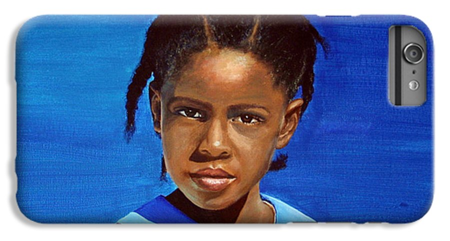 Portrait IPhone 6 Plus Case featuring the painting Barbuda School Girl by Fiona Jack
