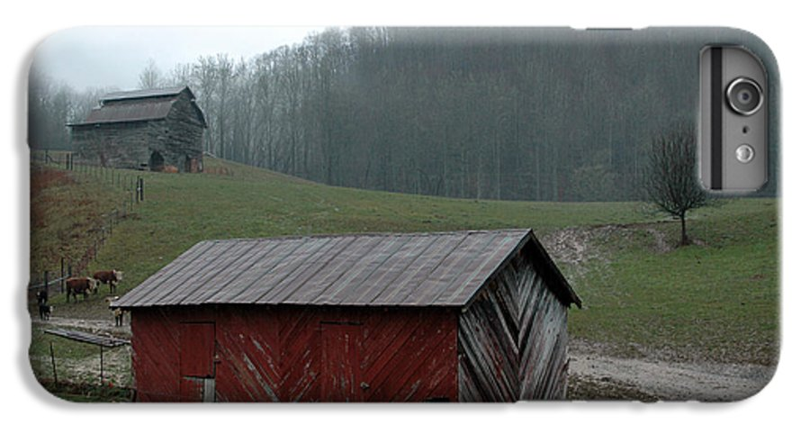 Barn IPhone 6 Plus Case featuring the photograph Barn At Stecoah by Kathy Schumann
