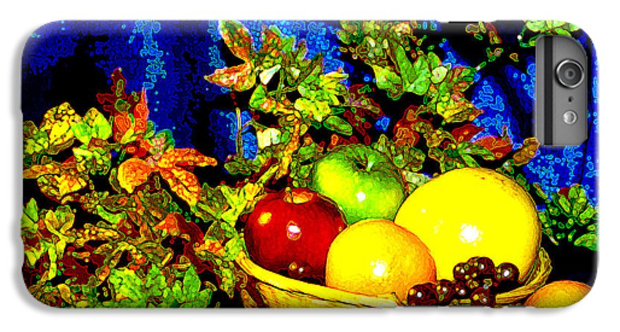 Fruit IPhone 6 Plus Case featuring the photograph Basket With Fruit by Nancy Mueller
