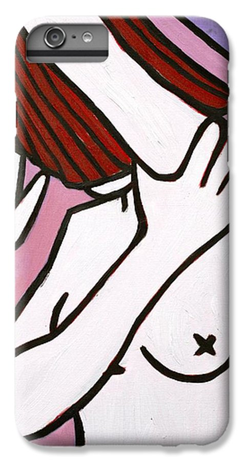 Nude IPhone 6 Plus Case featuring the painting Bather by Thomas Valentine