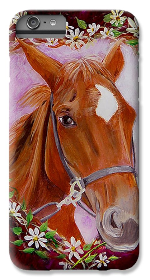 Horse IPhone 6 Plus Case featuring the painting Batuque by Quwatha Valentine
