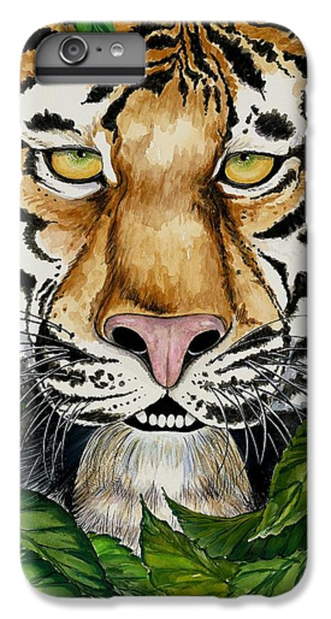 Art IPhone 6 Plus Case featuring the painting Be Like A Tiger by Carol Sabo