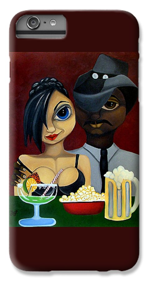 Sweethearts IPhone 6 Plus Case featuring the painting Be My Valentine by Elizabeth Lisy Figueroa