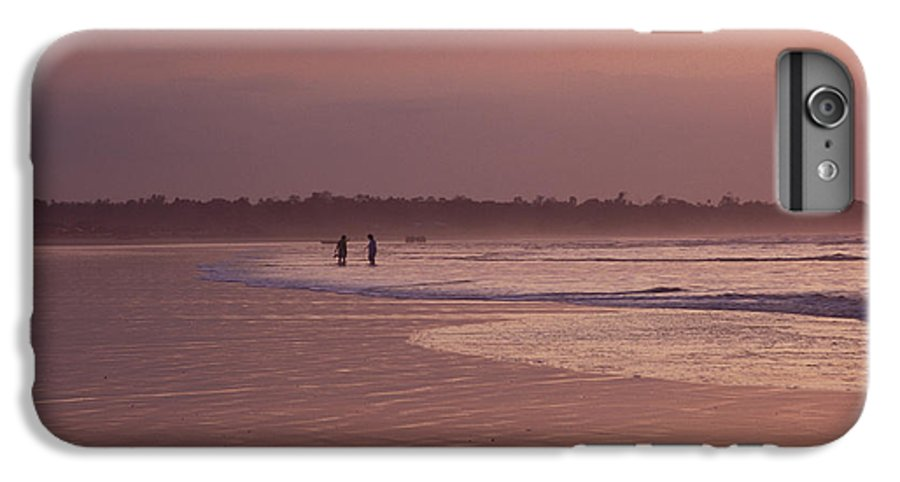 Ecuador IPhone 6 Plus Case featuring the photograph Beachcombers by Kathy McClure