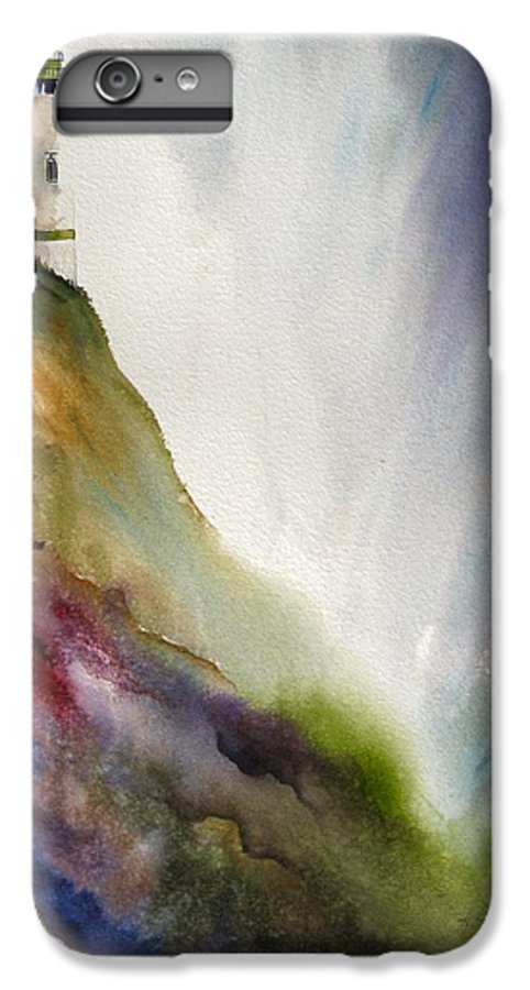 Lighthouse IPhone 6 Plus Case featuring the painting Beacon by Karen Stark