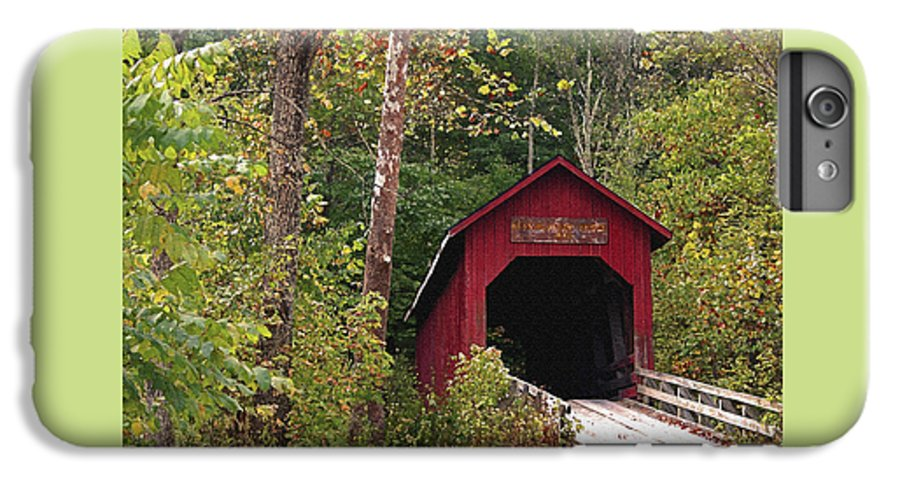 Covered Bridge IPhone 6 Plus Case featuring the photograph Bean Blossom Bridge I by Margie Wildblood