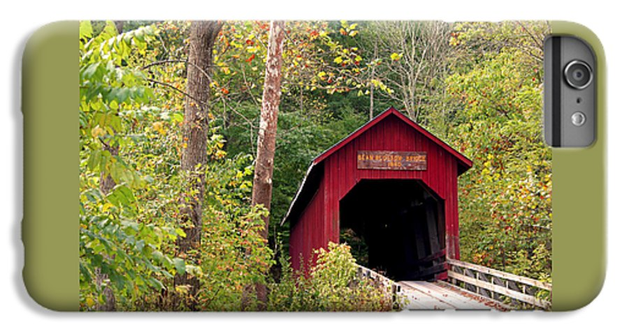 Covered Bridge IPhone 6 Plus Case featuring the photograph Bean Blossom Bridge II by Margie Wildblood