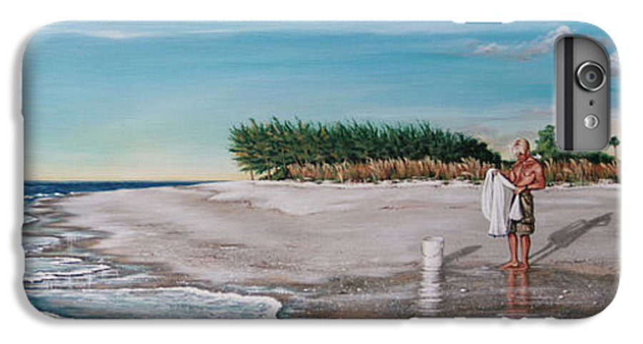 Beach IPhone 6 Plus Case featuring the painting Bean Point by Joan Garcia
