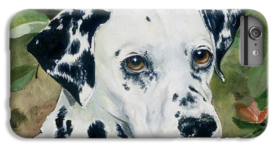 Portrait IPhone 6 Plus Case featuring the painting Beaudiddeley by Eileen Hale