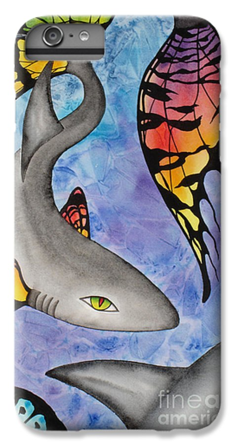 Surreal IPhone 6 Plus Case featuring the painting Beauty In The Beasts by Lucy Arnold