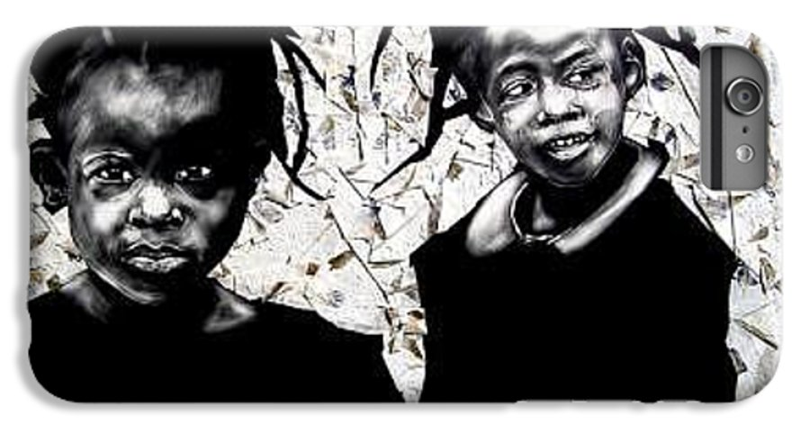 Two Friends Getting Ino Mischief IPhone 6 Plus Case featuring the mixed media Bebe And Cece by Chester Elmore