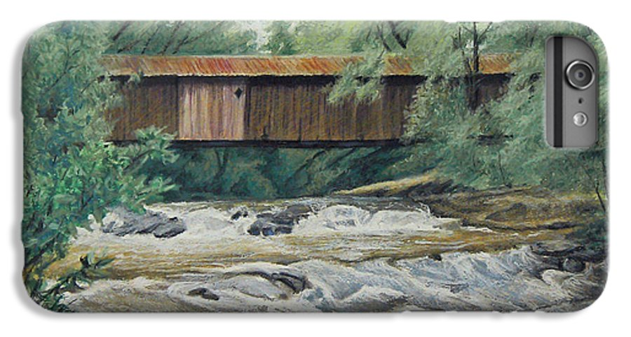 Landscape IPhone 6 Plus Case featuring the painting Before The Fire by Peter Muzyka