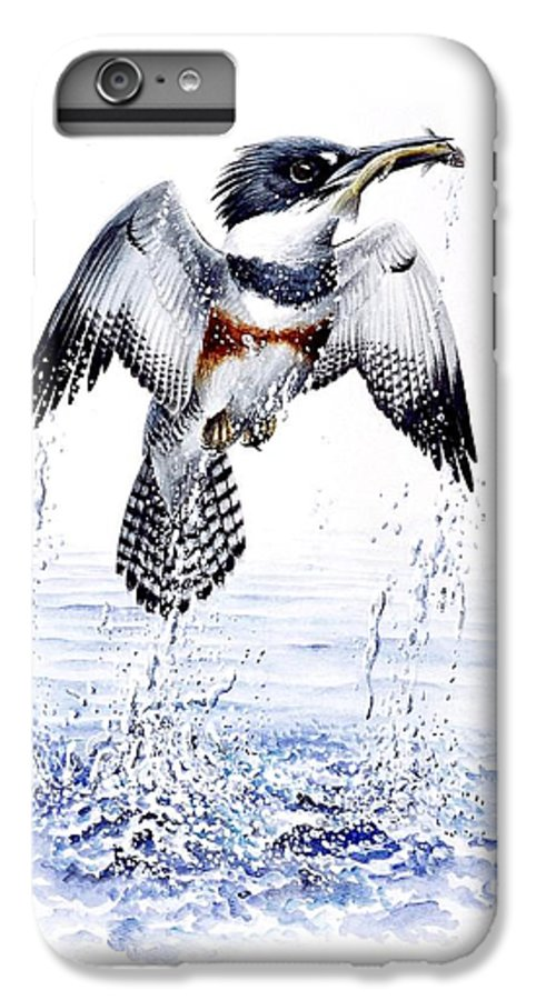 Chris Cox IPhone 6 Plus Case featuring the painting Belted Kingfisher by Christopher Cox