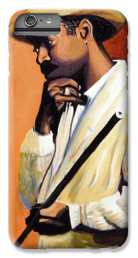 Cuban Art IPhone 6 Plus Case featuring the painting Benny 2 by Jose Manuel Abraham