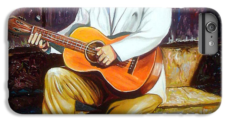 Cuban Art IPhone 6 Plus Case featuring the painting Benny by Jose Manuel Abraham