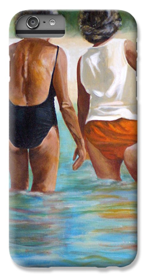 Friends IPhone 6 Plus Case featuring the painting Best Friends by Fiona Jack