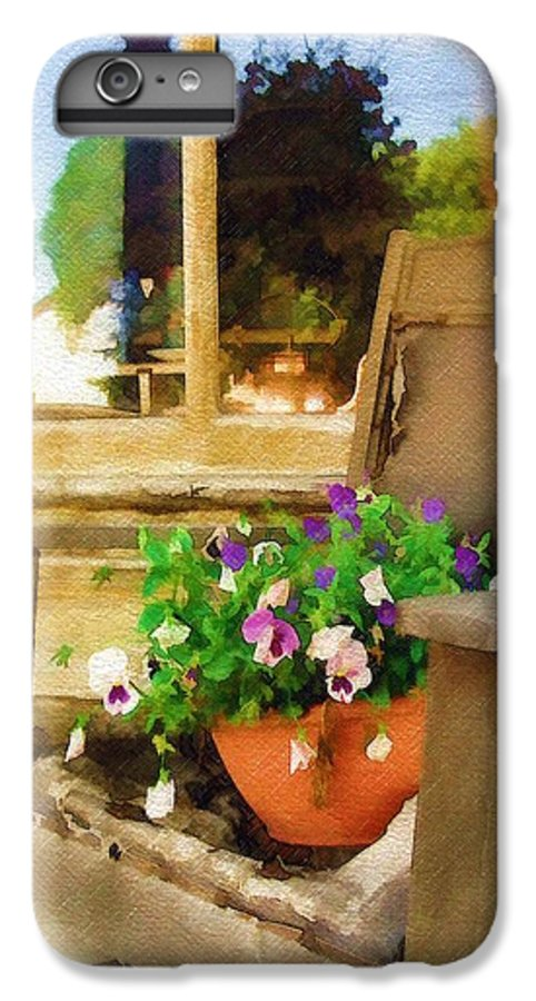 Pansies IPhone 6 Plus Case featuring the photograph Best Seat In The House by Sandy MacGowan
