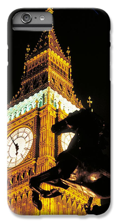 Clock IPhone 6 Plus Case featuring the photograph Big Ben In London by Carl Purcell