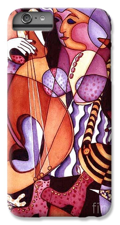 Whimsical IPhone 6 Plus Case featuring the painting Big Bertha by Arleen Barton