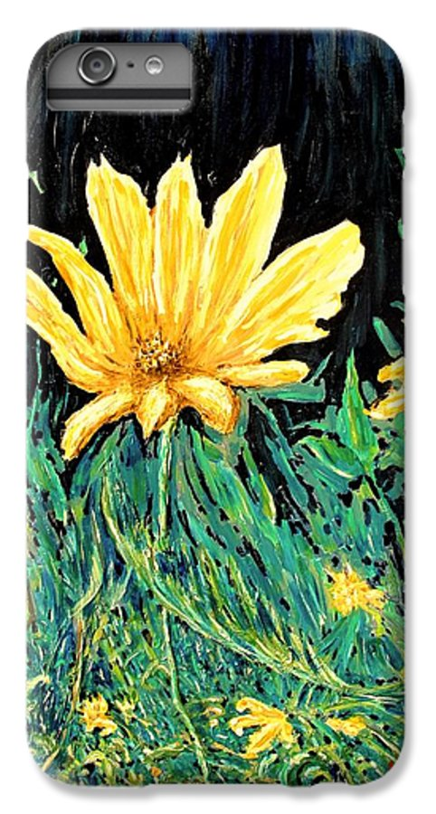 Flower IPhone 6 Plus Case featuring the painting Big Yellow by Ian MacDonald
